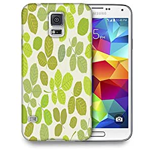 Snoogg Colorful Leaves Cream Pattern Printed Protective Phone Back Case Cover For Samsung S5 / S IIIII