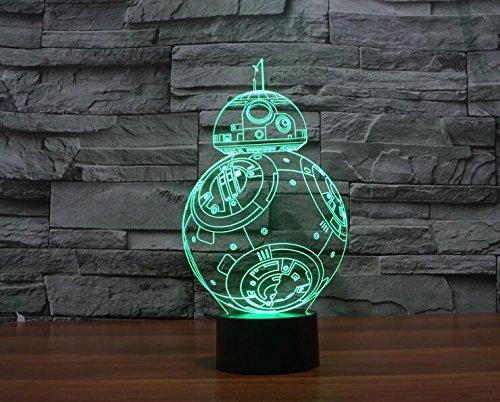 JFL Protect 3d Glow LED Lamp - 7 Colors Change Kids Room Art Sculpture Lights Produces Unique Lighting Effects and 3d Visualization - Amazing Optical Illusion