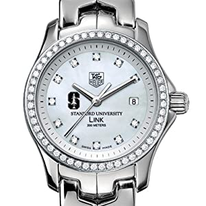 Stanford University TAG Heuer Watch - Ladies Link Watch with Diamond Bezel by TAG Heuer
