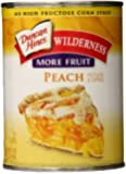 Wilderness More Fruit Pie Filling & Topping, Peach, 21 Ounce (Pack of 8)