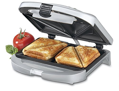 Brand New New Dual-Plate Gourmet Sandwich Maker Nonstick Electric Indoor Countertop Grill