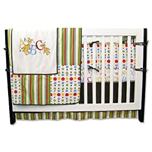 Trend Lab Dr Seuss ABC 4 Piece Crib Bedding Set