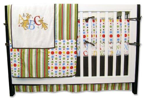 Trend Lab Dr. Seuss 4 Piece Crib Bedding Set, Abc front-1076369