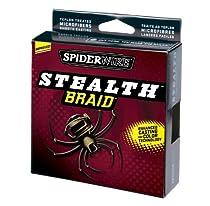 Spiderwire Stealth Braid 1500-Yard Spool (Moss Green, Pound/Diameter 50/12)