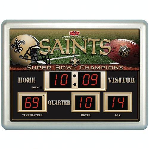 "New Orleans Saints Nfl 14"" X 19"" Scoreboard Clock"