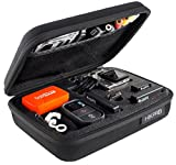 Premium Gopro Case for Hero 1 2 3 3+ Camera Highest Quallity Shockproof Go pro cameras EVA bag Black Medium Edition + With Enough space for float remote control lens battery LCD screen SD card accessories + HIKPRO 5 Year Warranty