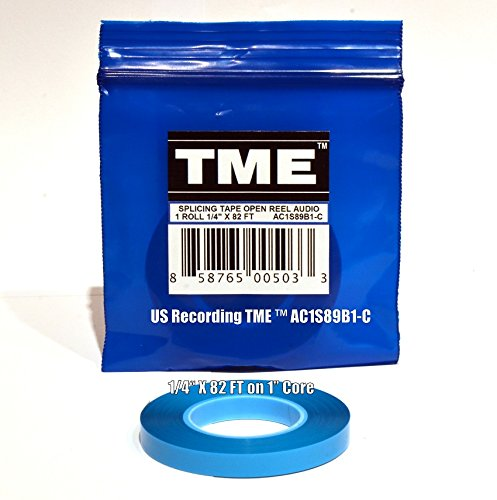 "Splicing Tape Open Reel Audio 1/4"" X 82' TME AC1S89B1-C Reel To Reel in TME Logo Poly Pack for RMGI, Quantegy, Maxell, AMPEX, ATR Media"