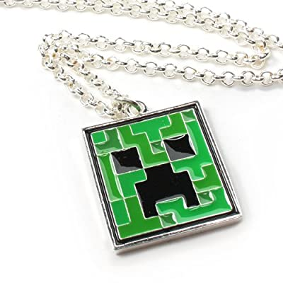 Minecraft Creeper Pendant Necklace by Jinx