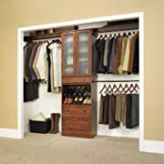 Lancaster Cherry Wide Closet Organizer Coach Cherry Finish