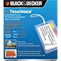 Black and Decker TimeShield Thermal Laminating Pouches, Luggage Tag with Loops, 5 mil - 100 Pack (LAMLUG5-100)