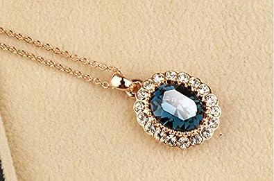 Gouttes Pendentif Swarovski Elements Rose Collier Bonheur Dames-Chaîne Cadeau