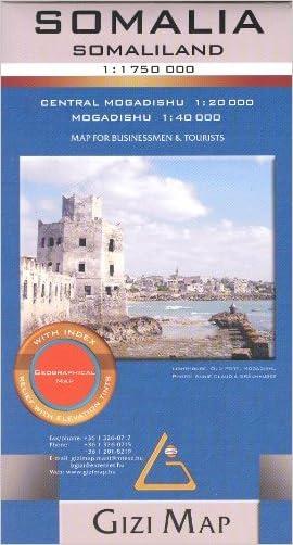 Somalia, Somaliland & Puntland 1:1,750,000 Travel Map with Mogadishu plan GIZI, 2013 edition