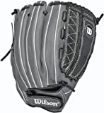Wilson Onyx ASO Outfield Fastpitch Softball Glove, Black/Coal, Right Hand Throw, 12.75-Inch, 12.75-Inch/Black/Coal