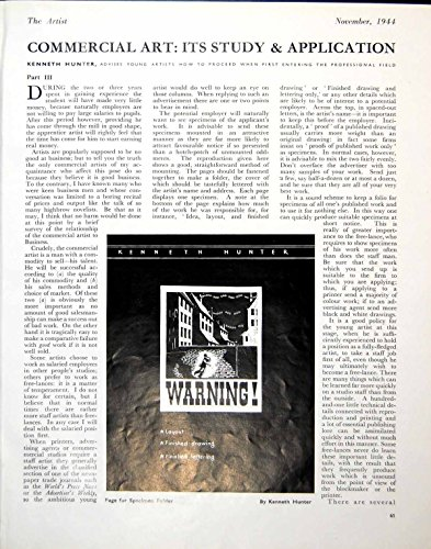 Vecchia Pagina Vittoriana Antica Originale della Stampa Per la Disposizione del Cacciatore di Kenneth della Cartella dell'Esemplare che Segna 1944 277G612 con lettere