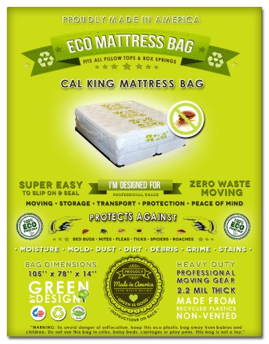 2 Cal King Or King Mattress Protection Bags. Fits All Pillow Tops And Box Springs. Professional Grade 2.2 Mil Super Thick, Non-Vented And Non-Toxic. Ideal For Moving, Storage And Protecting Your Mattress From Dust, Dirt, Grime, Stains And Accidents (Bed W front-197179