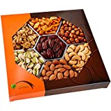 Gourmet Food Nuts Gift Basket, 7 Different Delicious Nuts! Love It Or Your Money Back. Kosher, Vegan, Vegetarian Friendly Gift Tray. Heart Healthy Snacks. Perfect For Corporate, Congratulations, Holiday, Birthday, Teacher, Anything! -Five Star Gift Baskets