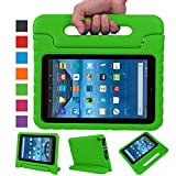 Fire 7 case,Fire 7 2015 Case,TRAVELLOR®Kids Shock Proof Convertible Handle Light Weight Super Protective Stand Cover for Amazon Fire Tablet (7 inch Display, 2015 Release Only)(green)
