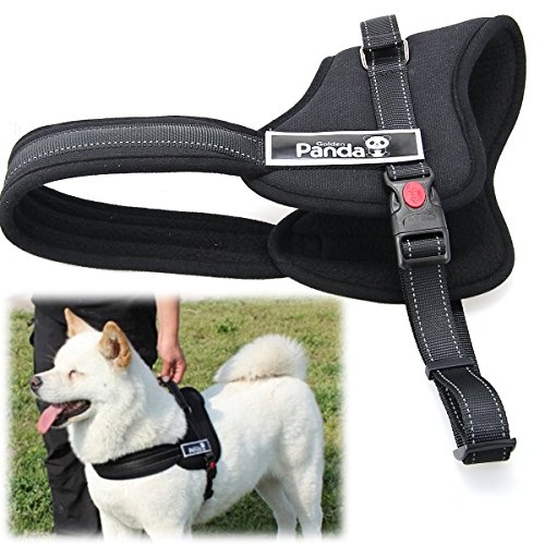 xcsourcer-soft-padded-adjustable-pet-harness-vest-for-cat-or-dog-training-or-walking-black-xs-ps015
