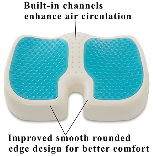 Travelmate Coccyx Orthopedic Gel Enhanced Comfort Memory