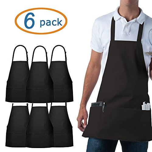 353 Chef Apparel Adjustable Bib Apron - 3 Pockets-Easy Care Twill-65/35 Cotton (Food Service Clothing compare prices)