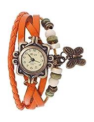 Jack Klein Orange Color Vintage Watche For Girls, Women