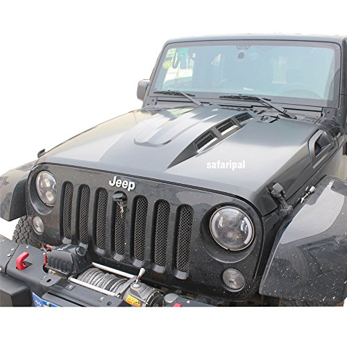Safaripal Revenge Style Heat Reduction JK Jeep Wrangler Black Hood