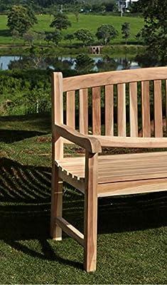 Gartenbank Holz 3 Sitzer Oregon 160 cm Teak Bank Handarbeit naturbelassen von 4251068922407 auf Gartenmöbel von Du und Dein Garten