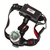 CREE XM-L T6 LED 1600 Lumens Waterproof Headlight, Bright Cree LED lighting Rechargeable Headlamp