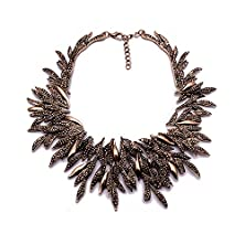 buy Girl Era Womens Luxury Multilayer Golden Willow Statement Chunk Collar Necklace Wedding Party
