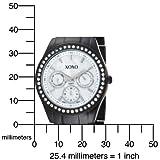XOXO Women's XO115 Rhinestone Accent Black Enamel Bracelet Watch