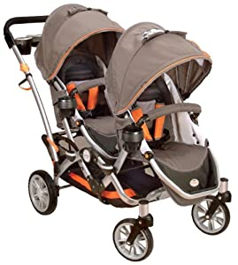 Contours Options Tandem II Stroller, Tangerine (Discontinued by Manufacturer)