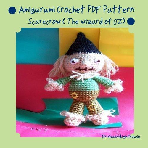 Scarecrow (the wizard of Oz)-Amigurumi Crochet Pattern