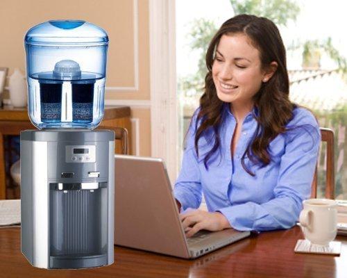 IcebergFresh - Fontaine à eau filtrante froid chaud de Comptoir BIODESK - avec bonbonne filtrante - ICEF-164
