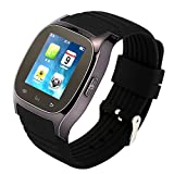 Tera M26 Bluetooth LCD Touch Screen Intelligent Smart Watch Bracelet Wristband Pedometer Barometer Altimeter with Steps Tracking Phone Anti-lost Call Message Sync Black