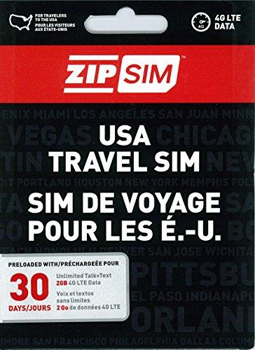ZIP SIM 通話+SMS+データ通信2GB、30日間 アメリカ用プリペイドSIM (※旧名称 READY SIM 2016年4月より商品名・パッケージが変更となりました)