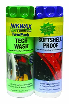 Buy Nikwax Tech Wash & Softshell Proof Duo-Pack, 10 fl. oz by Nikwax