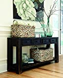 Signature Design by Ashley Gavelston Black Sofa Table