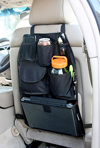 YupBizauto Brand Car Auto Front or Back Seat Organizer Holder Multi-Pocket Travel Storage Bag Black Color (Car Brands compare prices)