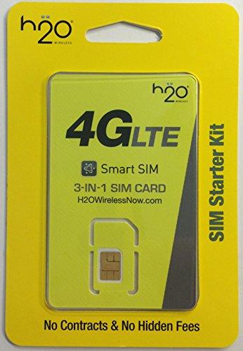 H2O Wireless Triple (nano, micro, and mini) 3-in-1 sim card