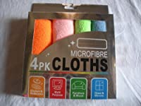 Microfiber EXTRA LARGE MICRO FIBRE CLEANING CLOTH SET OF 4 COLORFUL PIECES EACH MEASURES 30X30CM