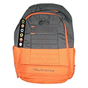 Skullcandy Ink'd Multiple Compartment Downshift Backpack Orange and
