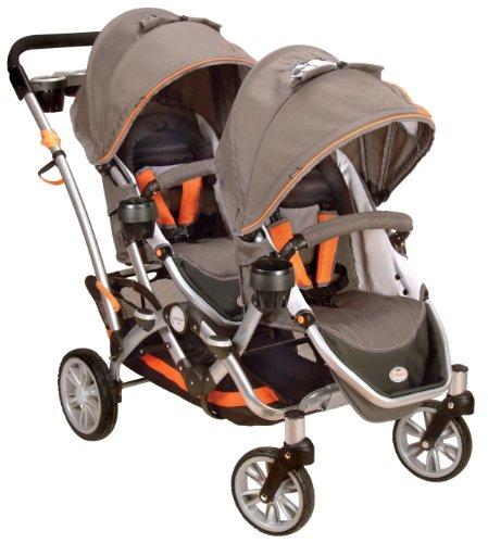 Contours Options Tandem II Stroller, Tangerine
