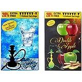 Brain Freezer & Double Apple Hookah Flavour Pack Of 2