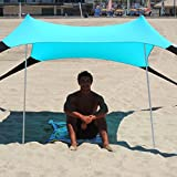 Sol Shade - Portable Easy Pop Up Beach Stretch Fabric Sun Shade Tent Canopy - Sand Anchors - Excellent Beach Tent