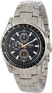 Casio Men's MTP4500D-1AV Slide Rule Bezel Analog Chronograph Aviator Watch