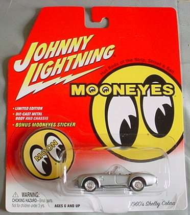 Johnny Lightning Mooneyes 1960's Shelby Cobra SILVER