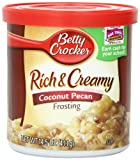 Betty Crocker Rich & Creamy Frosting, Coconut Pecan, 14.5-Ounce Containers (Pack of 8)