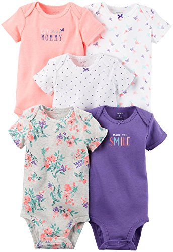 Carter's Baby Girls Multi-Pack Bodysuits, Assorted, 18 Months