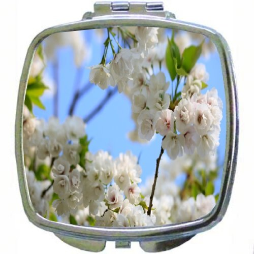Rikki Knighttm Wild Cherry Blossom Tree Leaves Design Compact Mirror back-9182