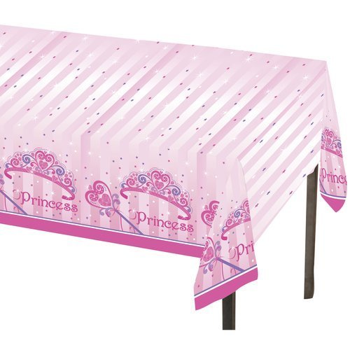 "Princess Pink Girls Birthday Party Table Cover - 54"" x 84"""